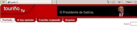 Imagen de la televisión por Internet de Touriño