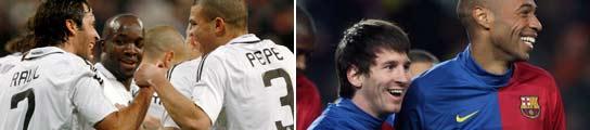 Gol de Raúl y Messi y Henry