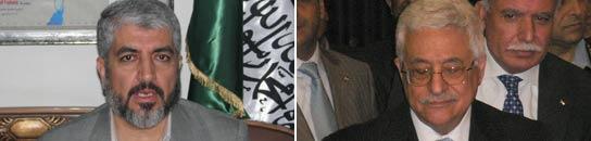Khaled Meshaal y Mahmud Abbas