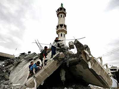 Una mezquita destruida