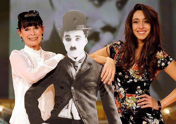 Una saga de los Chaplin     30/01/09. Una saga de los Chaplin. La actriz estadounidense Geraldine Chaplin y su hija Oana Chaplin, durante su participación el programa televisivo 'Bienvenido con Carmen Nebel' en Salzburgo, Austria.