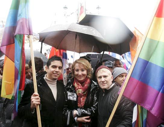 Aguirre en la manifestación anti Castro