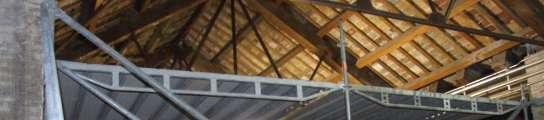 La cubierta de la Lonja tiene goteras piezas con rastro de termitas