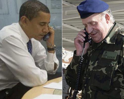 Barack Obama y el rey Juan Carlos I, en imágenes de archivo