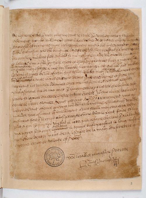 Carta Enrique VIII