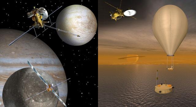 Misiones a Júpiter y Saturno