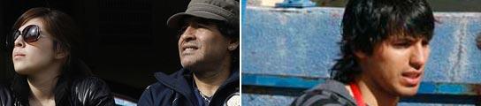 Giannina, Diego Maradona y el Kun Agüero (AGENCIAS)