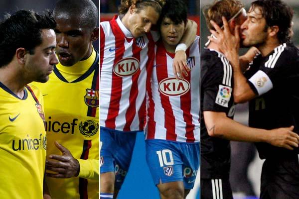 Xavi, Eto'o, Forlán, Agüero, Raúl y Guti