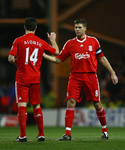 Xabi Alonso y Gerrard