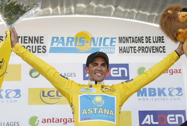 Alberto Contador de amarillo