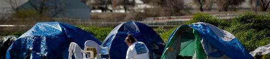 La crisis ha obligado a miles de familias americanas a vivir en tiendas de campaña  (Imagen: SACRAMENTO BEE)