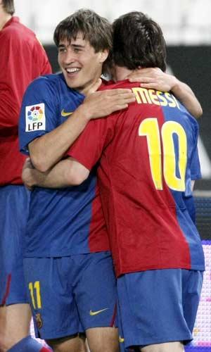 Bojan y Messi