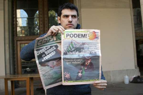 Enric Duran repareció,  tras seis meses desaparecido.