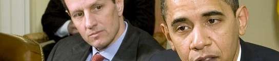 Barack  Obama  y Timothy Geithner