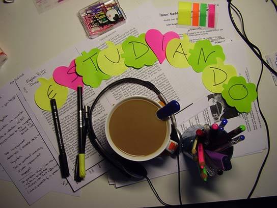 Cafeína y estudio.