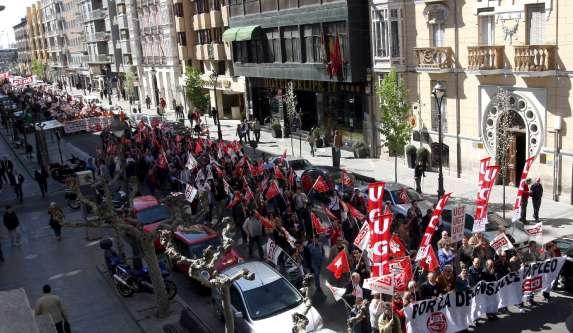 Manifestación contra los ERE