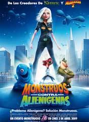 Monstruos contra alienígenas - Cartel