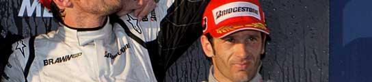 Barrichello, Button y Trulli, Australia