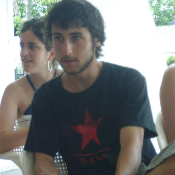 Aitor Garagarza, activista anticumbre.