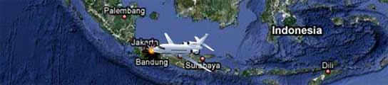 Al menos 25 muertos tras estrellarse un avión militar contra un hangar en Indonesia  (Imagen: GOOGLEMAPS)