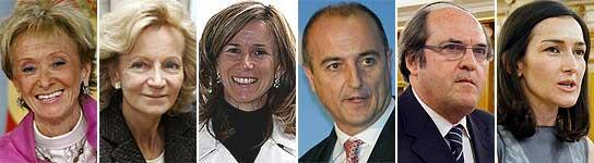 Ministros no afiliados al PSOE