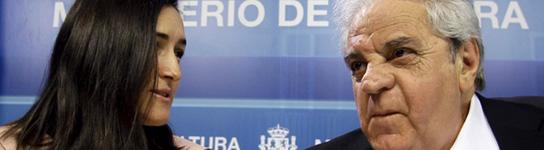 Ángeles González-Sinde y Juan Marsé