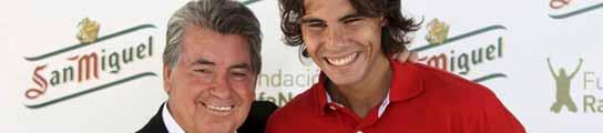 Manolo Santana y Rafa Nadal
