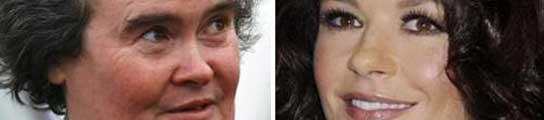 Susan Boyle y Catherine Zeta-Jones
