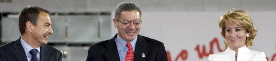 Aguirre, Zapatero y Gallardón