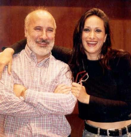 Nacho Morán, junto a la cantante Ángeles Blancas