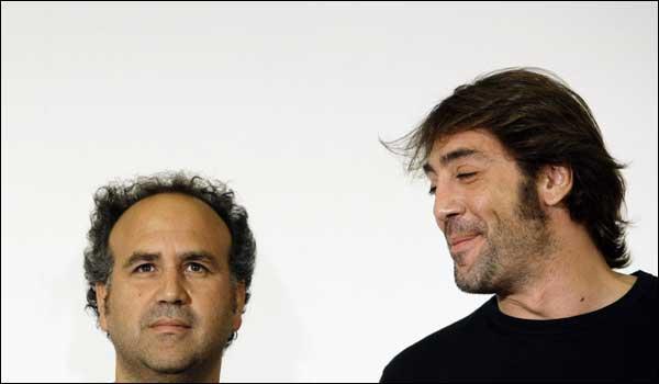 Javier Corcuera y Javier Bardem