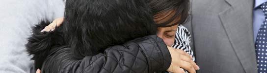 Conchi Miranda y la hija de Yasmín Rodríguez