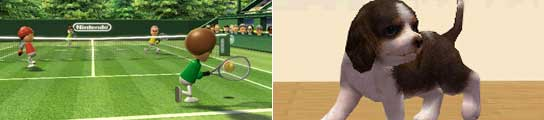 Wii Sports y Nintendogs