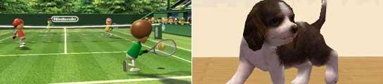 Wii Sports y Nintendogs