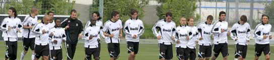La plantilla del Real Madrid en Valdebebas