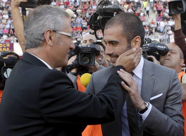 Gregorio Manzano y Pep Guardiola,