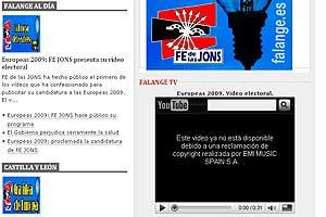 Web de Falange Española.