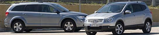 Dodge Journey y Nissan Qashqai+2