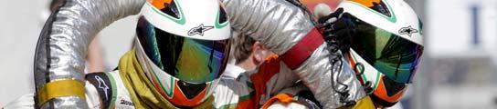 El equipo mecánico de Force India