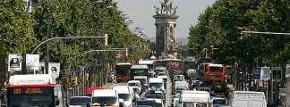 Tráfico en Barcelona.