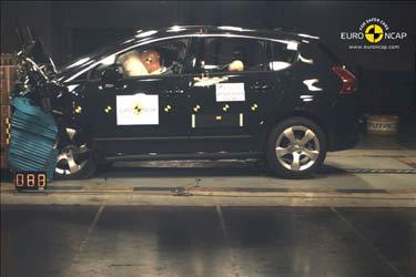 Prueba de EuroNCAP del Peugeot 3008