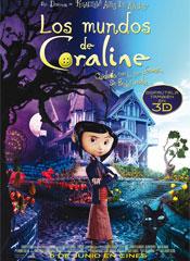 Los mundos de Coraline - cartel