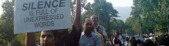 Imagen de las protestas en Irán publicada en Flickr.