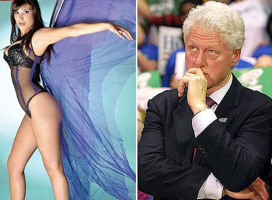 andrea rincon and bill clinton hand on mouth