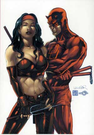 Daredevil y Elektra.