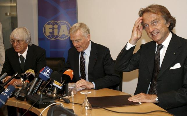 Ecclestone, Mosley y Montezemolo
