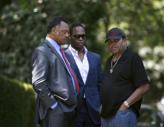 Jessy Jackson y el padre de Michael, Joe.