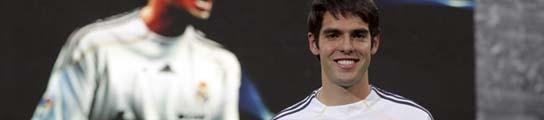Kaká, en su presentación en el Santiago Bernabéu