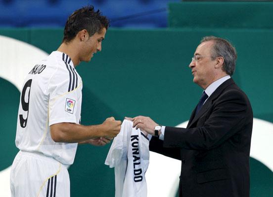 Cristiano Ronaldo y Florentino Pérez