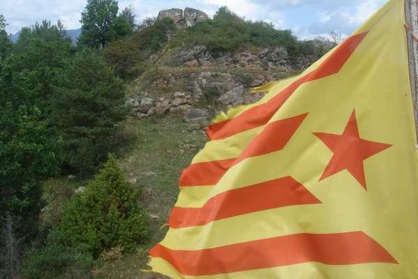 'Estelada' o bandera independentista catalana.